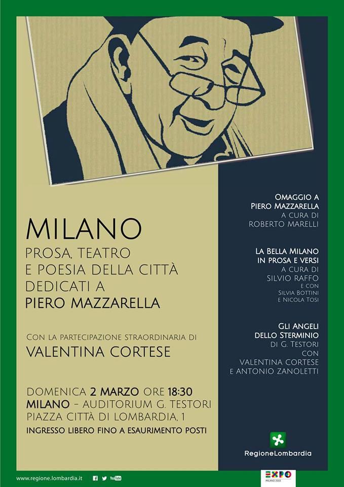 Omaggio a milano prosa poesia e teatro della citt for Piero della valentina